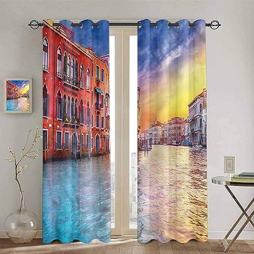 SONGDAYONE Italian Blackout Curtain Panels Window