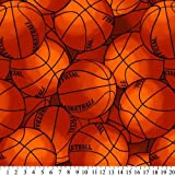 Basketball Fleece Throw Blanket with Finished Edges Sports