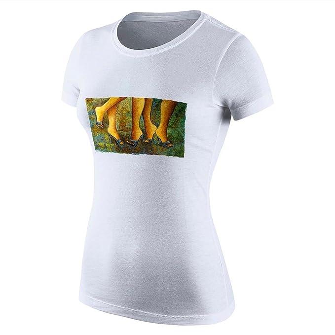 puppya larga camisas para mujer Walking patas para mujer camisetas tacón Vintage camisetas pintadas: Amazon.es: Ropa y accesorios