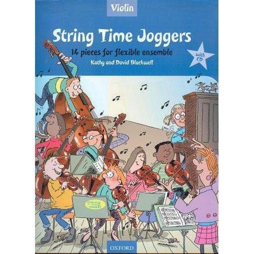 Violin Ensemble Pieces - String Time Joggers: 14 Pieces for Flexible Ensemble - Violin and Piano Book/CD set