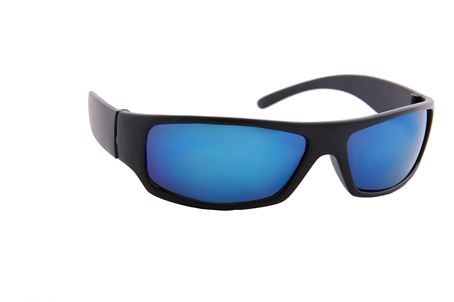 Mirror Lens Matte Frame Outdoor Athletic Sport Sunglasses IVOZZO