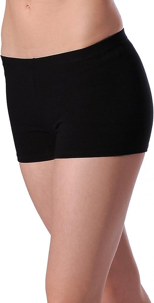 Roh Valley CTHIP Cotton/Lycra Hipster Style Shorts, Pantalones cortos para Mujer, Negro, 5-6 años (Manufacturer Size: 1): Amazon.es: Ropa y accesorios