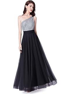f8b362940650 Ever Pretty Women's One Shoulder Empire Waist Elegant A Line Long Sequin  Bodice Tulle Bridesmaid Dresses