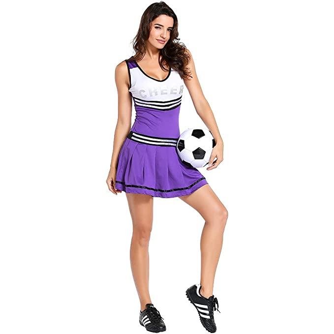 e8769acc830 Amazon.com: Cheerleading Uniform for Womens Sexy Football Short ...