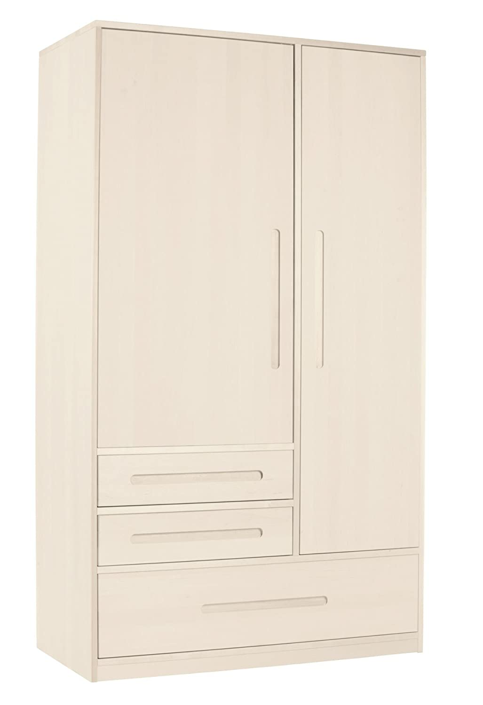 BioKinder 24752 Lina Schrank Kinder-Kleiderschrank aus Massivholz 190 x 110 x 55 cm
