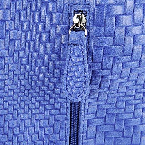 cuir Bleu Roi Sac en Mandalay tressé à Main Modèle femme gq1xwTIUq