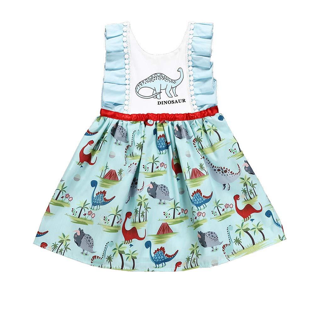 ASHOP Vestidos niña 6 años Faldas de Cuero con Cremallera Vestido ...