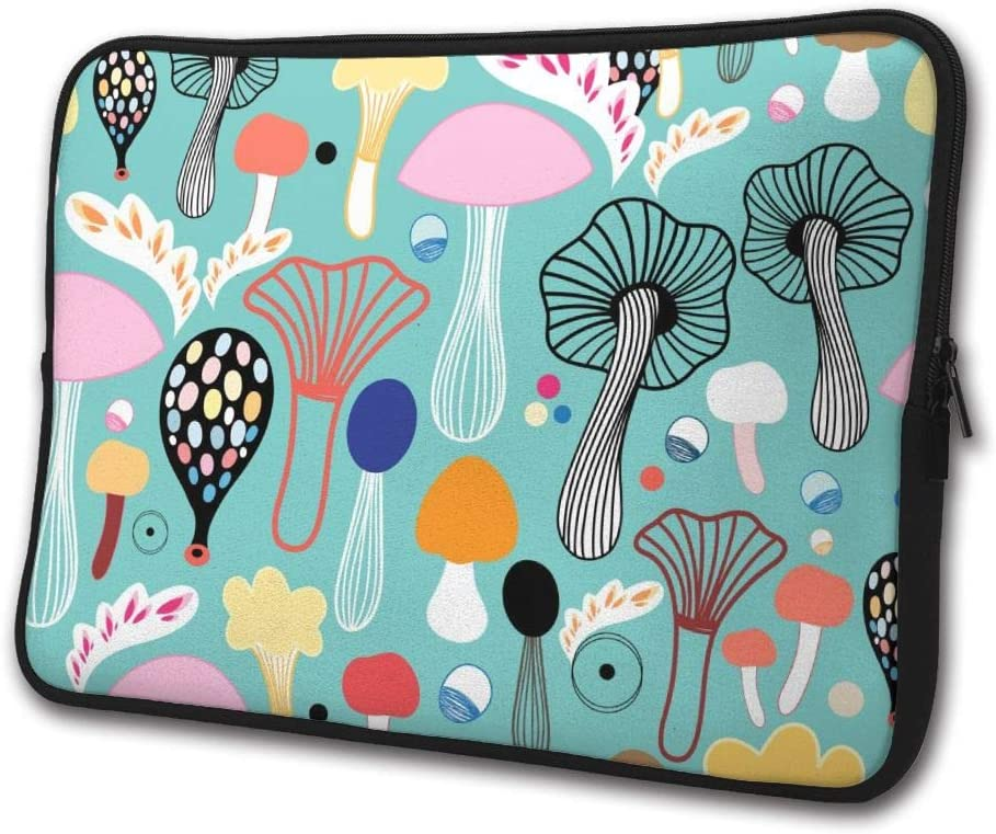 SWEET-YZ Laptop Sleeve Case Colorful Mushrooms Notebook Computer Cover Bag Compatible 13-15 Inch Laptop