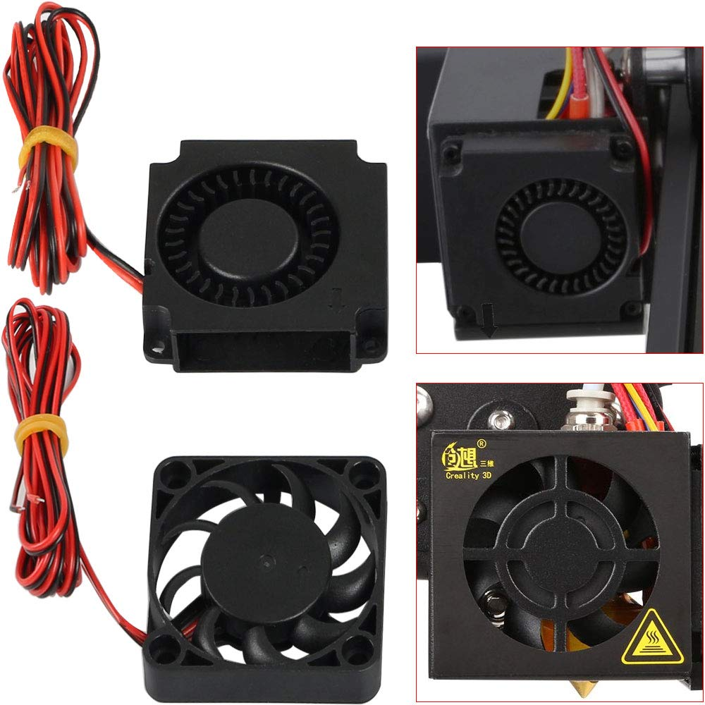 S4 S5-2Pcs FYSETC 3D Printer CR-10 Parts 4010 Blower 40x40x10mm 12V DC Cooling Fan Extruder Hotend Cooler Radiator Circle Fan for Creality CR-10 CR-10S