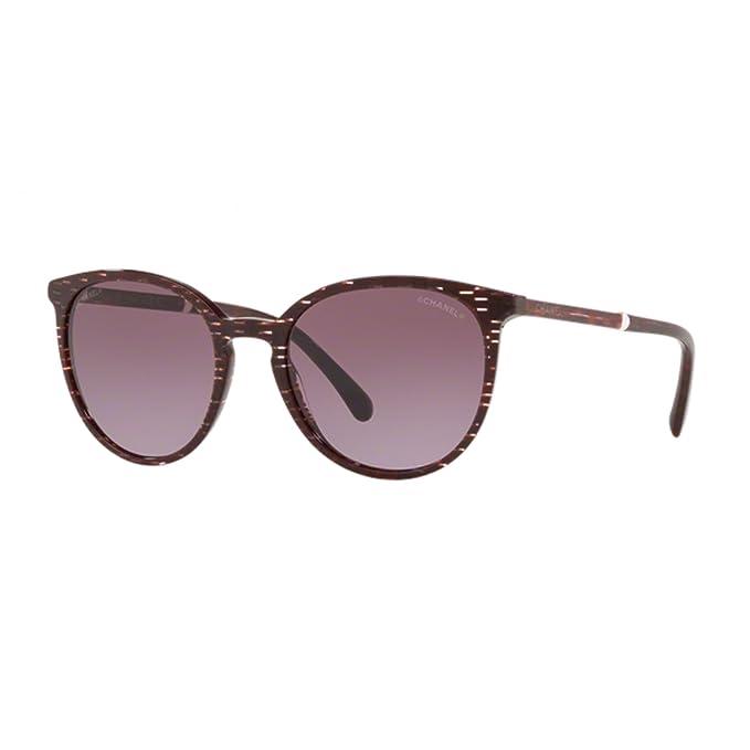 Chanel - Gafas de sol - para mujer Rojo burdeos: Amazon.es ...