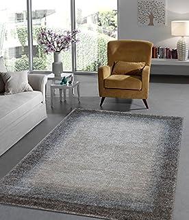 Teppich Eleganter Wohnzimmer Modern Meliert Natur Farben