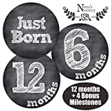 #3: Chalkboard Baby Monthly Stickers - Shower Gift Idea or Scrapbook Photo Keepsake
