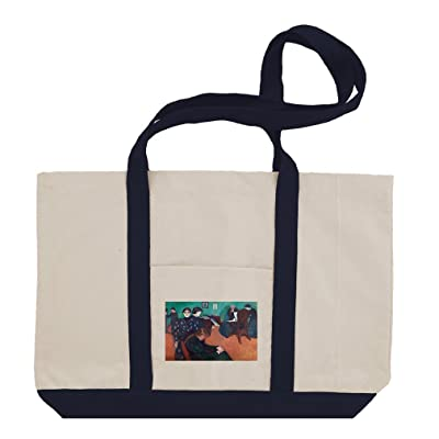 delicate Death In The Sickroom  1 (Munch) Cotton Canvas Boat Tote Bag Tote 6d713374b6
