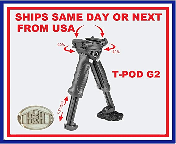 T Pod G2 Bipod Foregrip 2nd Generation Fab Defense Sport Freizeit