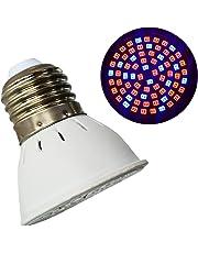 frcolor E27 6 W 72 LEDs Lámpara planta crecimiento bombilla crecimiento interior jardín luz LED lámpara