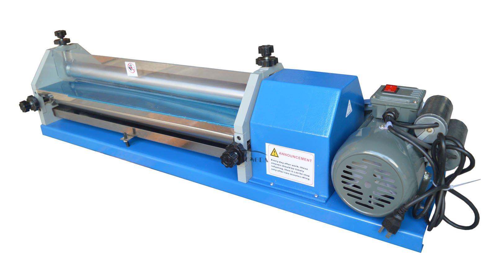 23In 110V White Emulsion Gluing Coating Machine for Paper Leather Cardboard Coater