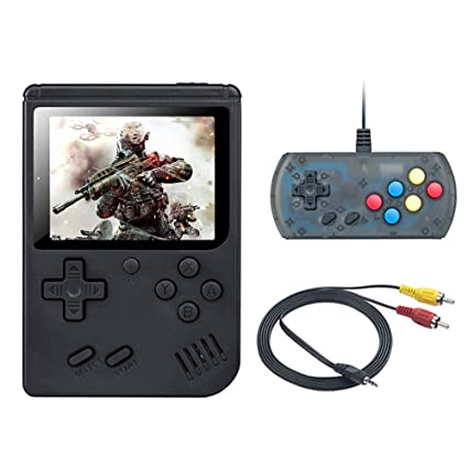 Good Gifts for Kids and Adult weikin Handheld Game Console 168 Classic Games 3 Inch LCD Screen Portable Retro Video Game Console Support for Connecting TV and Two Players