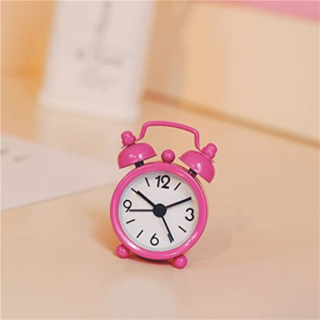 Cunclock Adorable mano práctico bolsillo fresca pequeña Pocket Reloj alarma Mini 1 pulgadas portátil Creativo compacto