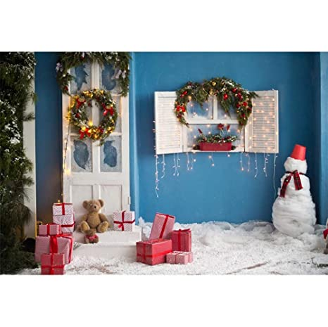 Amazon Com Laeacco 10x6 5ft Vinyl Christmas Photography Background