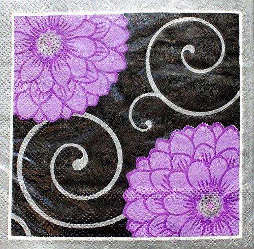 floral beverage napkins - 9