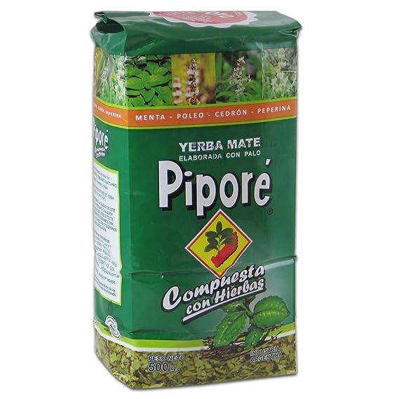Yerba mate Piporé compuesta Menta, Limón 500gr: Amazon.es ...