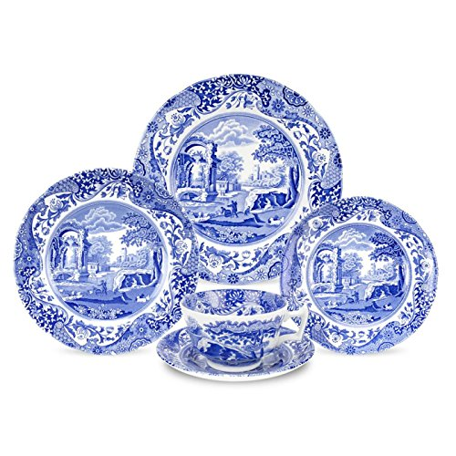 - Spode Blue Italian 5-Piece Place Setting