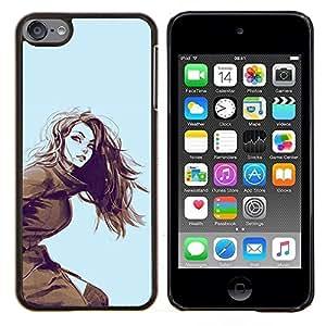 TECHCASE---Cubierta de la caja de protección para la piel dura ** Apple iPod Touch 6 6th Touch6 ** --muchacha de la demostración