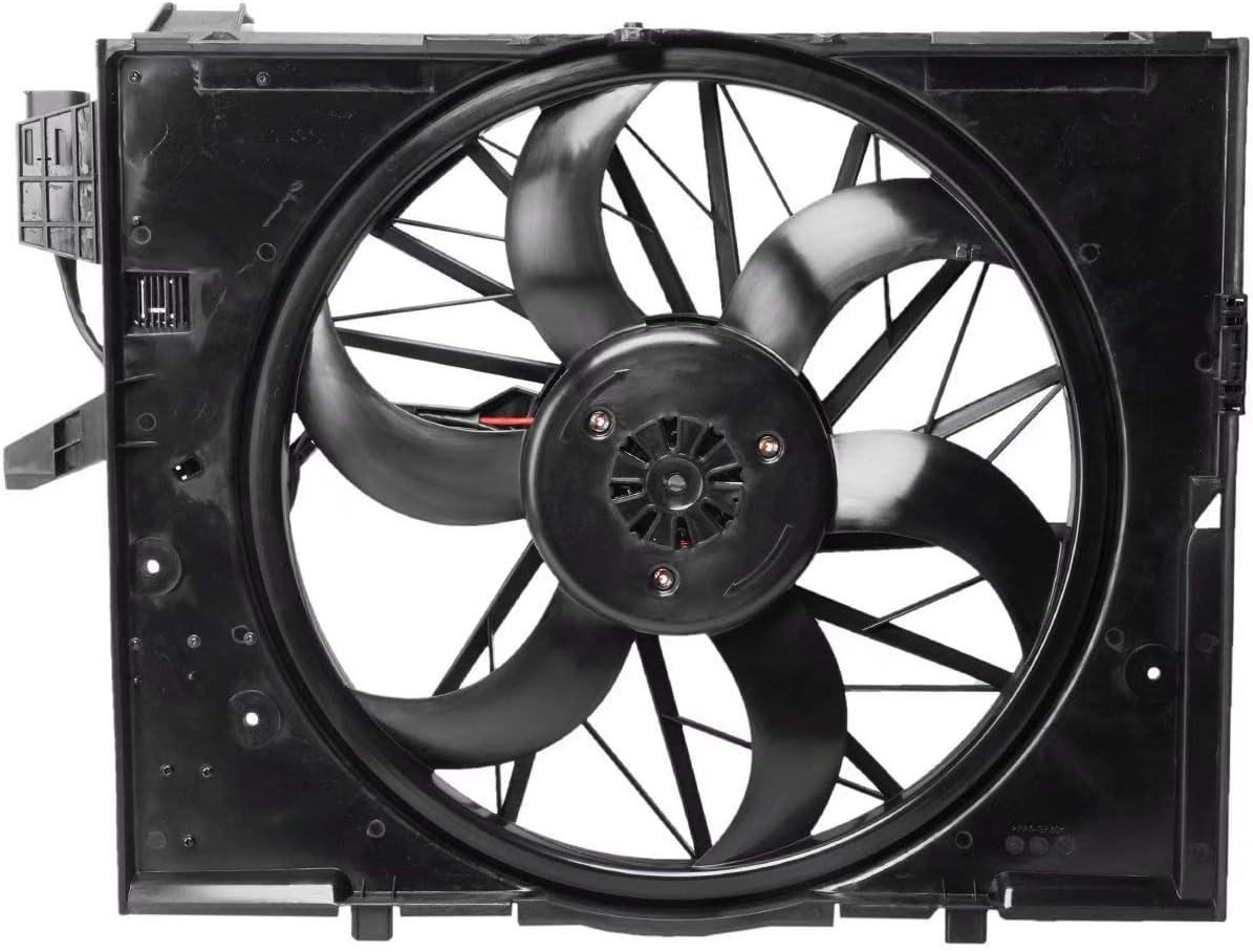 OEM 17427526824 Radiator Cooling Fan Assembly for BMW E60 525i 530i 2004-2005
