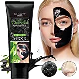 Facial Mask Pore Cleansing - Black Mask Blackhead Remover Purifying Black Peel Off Mask - Activated Charcoal Deep Cleansing Facial Acne Pore Cleaner , 120g