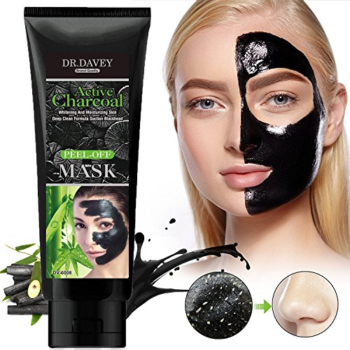 Black Mask Blackhead Remover Purifying Black Peel Off Mask - Activated Charcoal Deep Cleansing Facial Acne Pore Cleaner , 120g