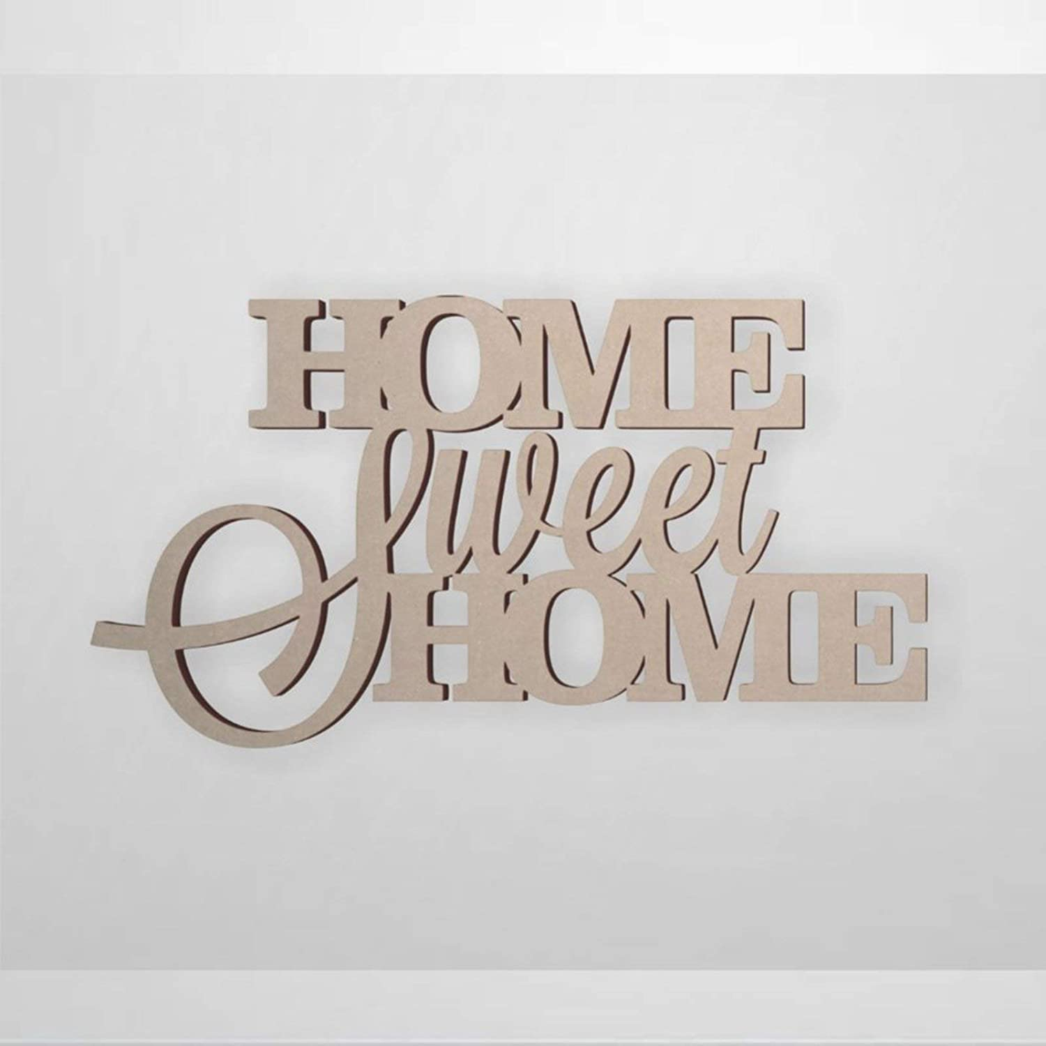 BYRON HOYLE Home Sweet Home Wood Craft,Unfinished Wooden Cutout Art,Inspirational Farmhouse Wall Plaque,Rustic Home Decor for Living Room,Nursery,Bedroom,Porch,Gallery Wall