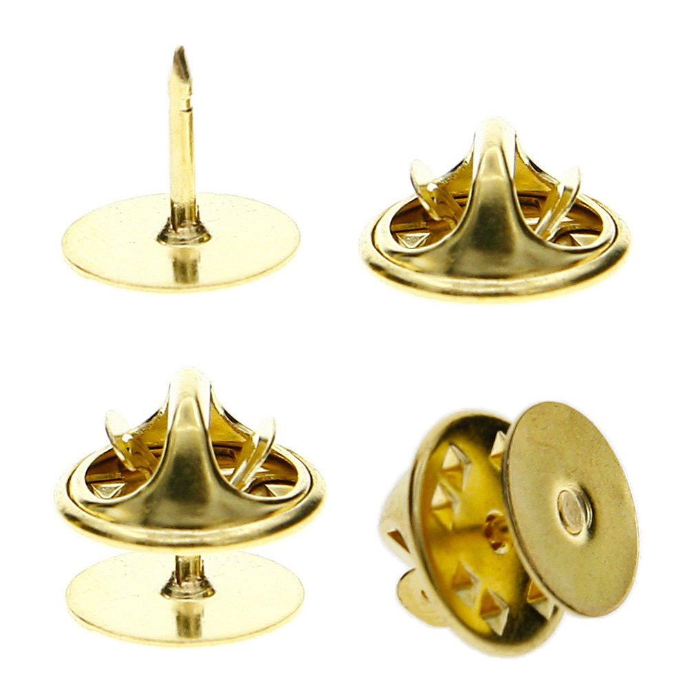 TR.OD 50 Pieces Tie Tacks Blank Pins with Clutch Back, Gold HITTIME