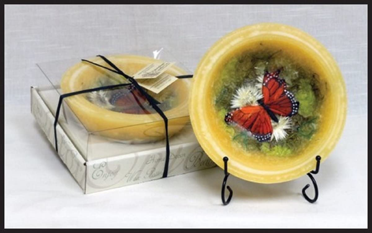 Habersham Wax Pottery Bowl, Butterfly Garden (7 in Vessel with Stand)