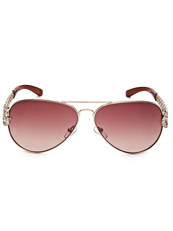 9ac1f7cd851 Mua sản phẩm GUESS Factory Women s Chain-Link Aviator Sunglasses từ ...