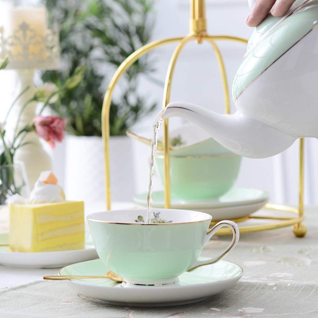 CSQ Coffee Cup Tea Set, Simple Ceramics Tea Set Meeting Room Hospitality Room Tea Set Capacity: 900ml Afternoon Tea (Color : A) by Tea set-CSQ (Image #6)