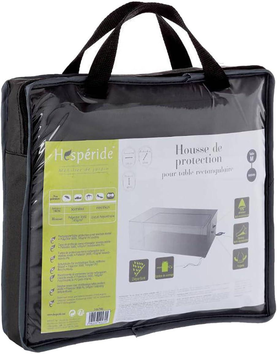 Funda de protección para mesa rectangular - 225 x 125 x 80 cm - Color Gris Pizarra