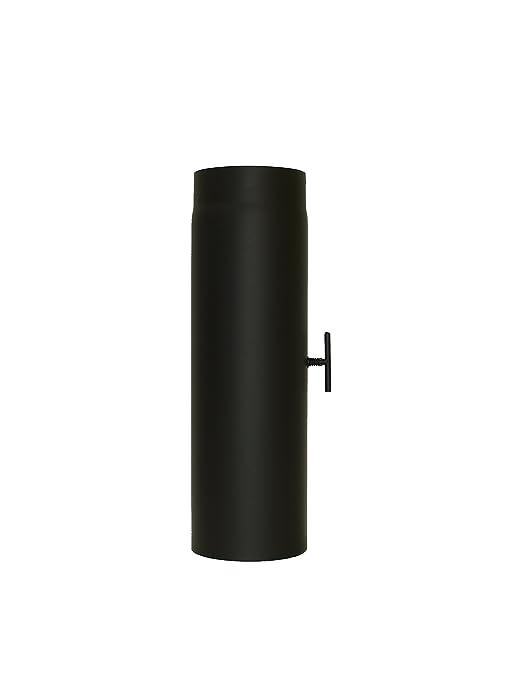 lanzzas humo Tubo estufa (Tubo garantía 500 mm con válvula de estrangulación Diámetro 130 Mm