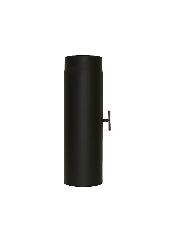 lanzzas humo Tubo estufa (Tubo garantía 500 mm con válvula de estrangulación 200 mm de diámetro negro: Amazon.es: Bricolaje y herramientas