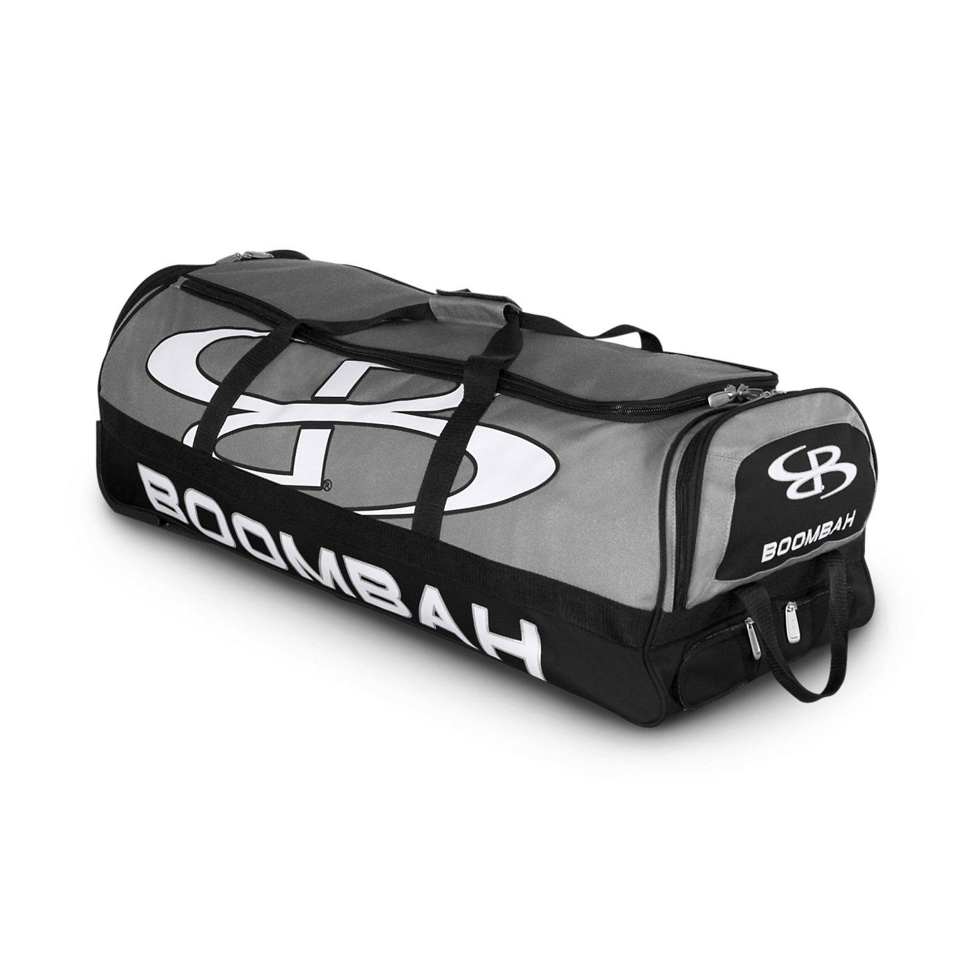 (ブームバー) Boombah Bruteシリーズ キャスター付きバットケース 野球ソフトボール用 35×15×12–1/2インチ 49色展開 4本のバットと用具を収納可能 B01N9BAEJS グレー/ブラック グレー/ブラック