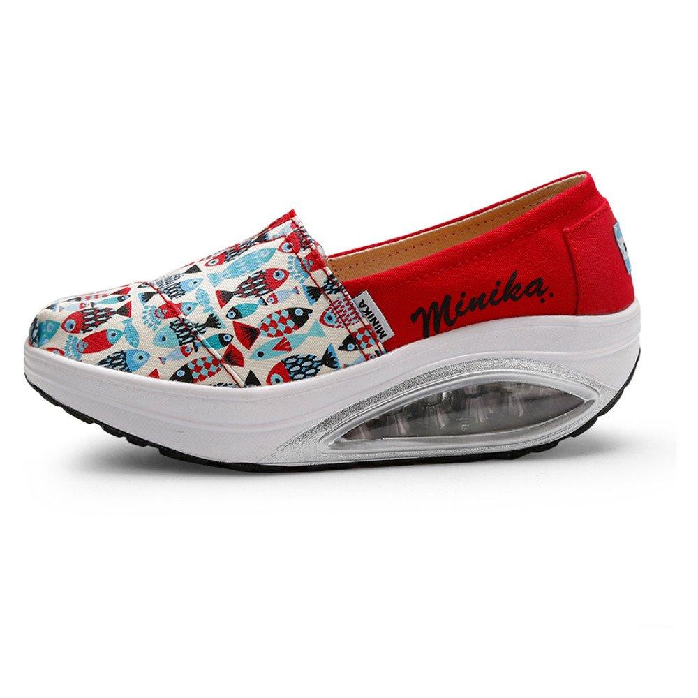 FangYOU1314 Chaussures de Toile pour Femmes Casual Rocking EU) : Shoes Rouge épais (Couleur : Rouge, Taille : 38 2/3 EU) Rouge f775230 - jessicalock.space