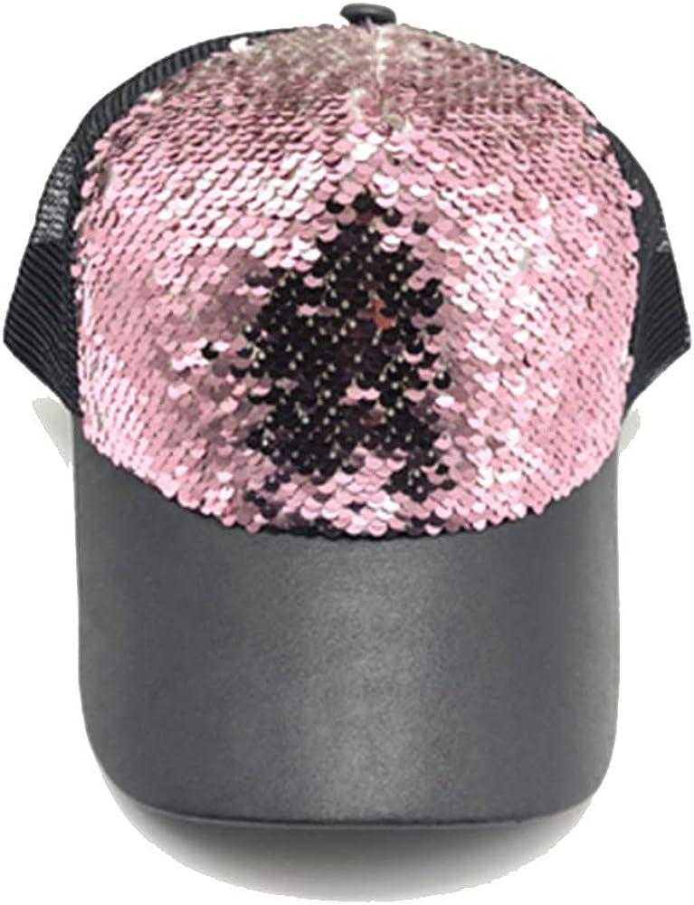 aoqngai Sequin mesh Hip hop Hats for Men Women