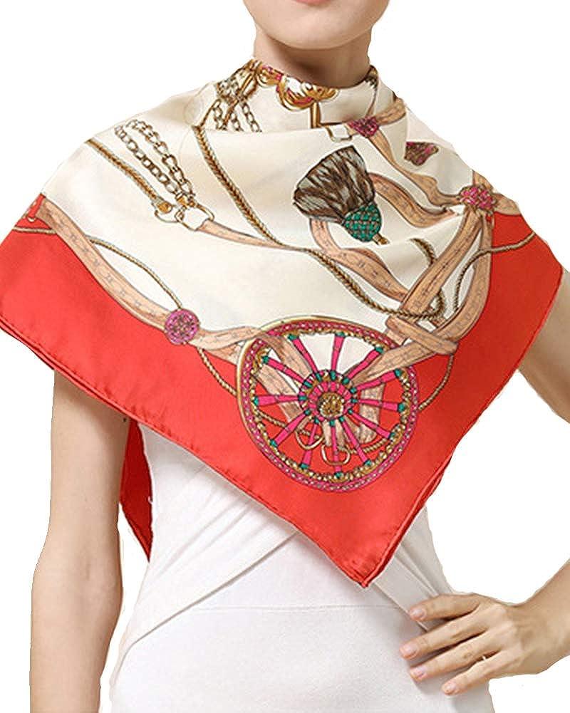Helan femmes R/éel Soie Naturelle 110 X 110 cm foulards carr/és