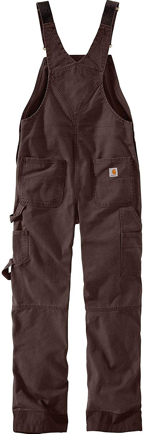 Carhartt Womens Weathered Duck Unlined Wildwood Bib Overalls