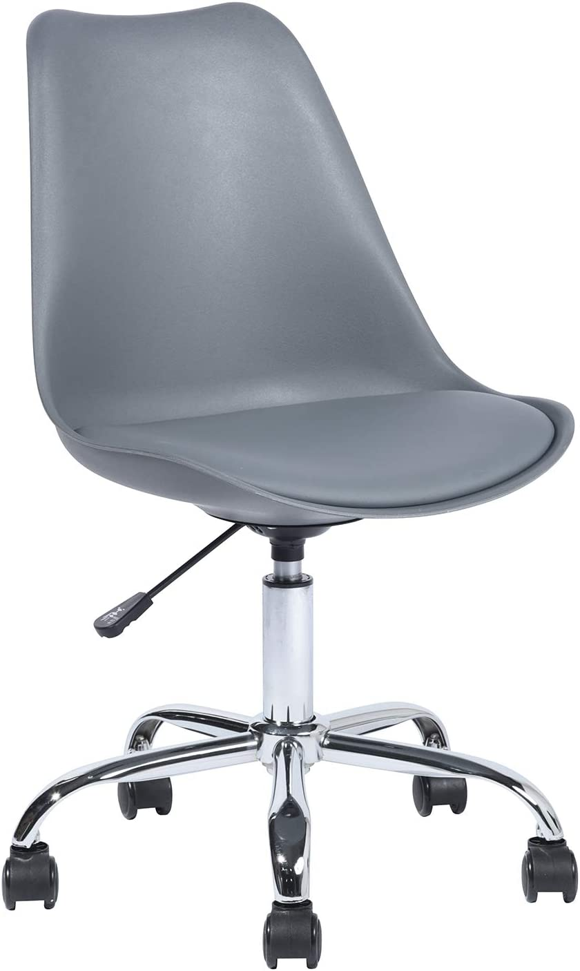 HouseInBox Low-Back Office Chair, Adjustable Rolling Swivel Computer Task Chair Lumbar Back Support, Grey…