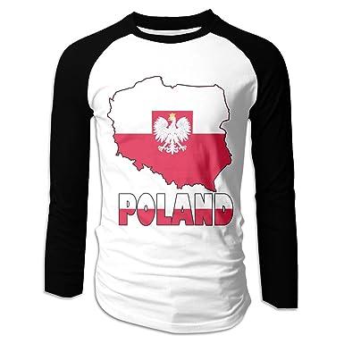 LOK8HJ Men\'s Poland Map Flag T Shirts Long Sleeves   Amazon.com