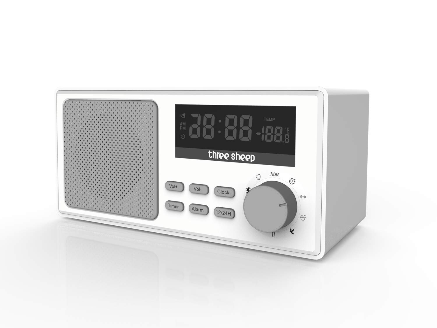 Three Sheep White Noise Sound Machine Portable Sleep Therapy for Adult with 9 Sounds and Auto-Off Timer,Alarm Clock for Home, Office, Baby Room,Travel by three sheep