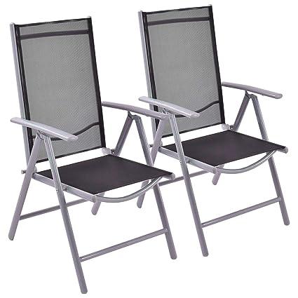 Terrific Amazon Com Sling Lounge Chair Outdoor Armed Folding Modern Evergreenethics Interior Chair Design Evergreenethicsorg
