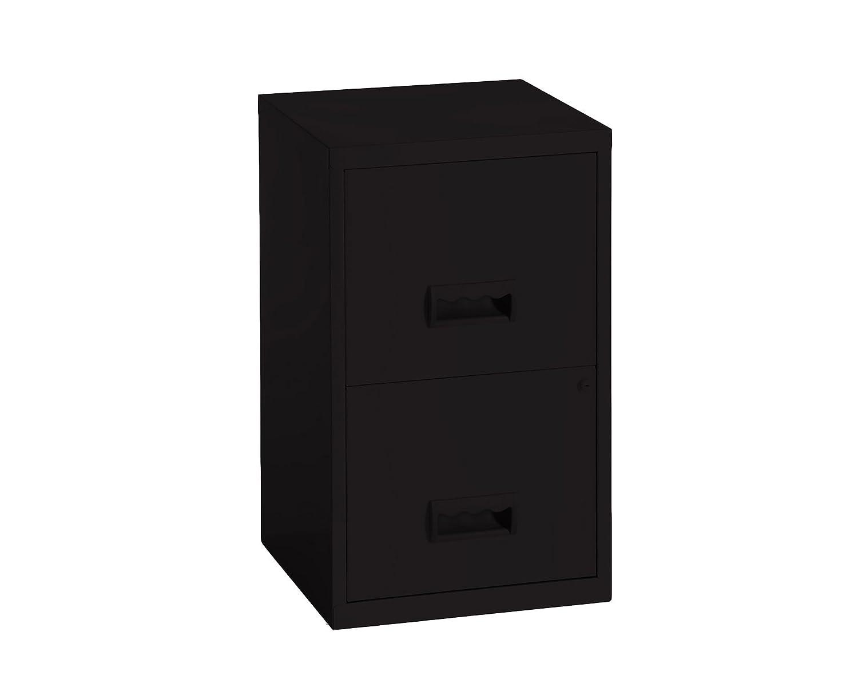 Pierre Henry 95110 - Armario archivador de 2 cajones, color negro: Amazon.es: Oficina y papelería
