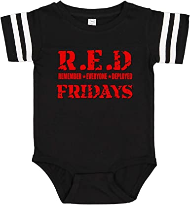 Newborn Infant Baby Girls Boys Bodysuits RED Friday Remember Everyone Deployed Cotton Long Sleeve Baby Clothes