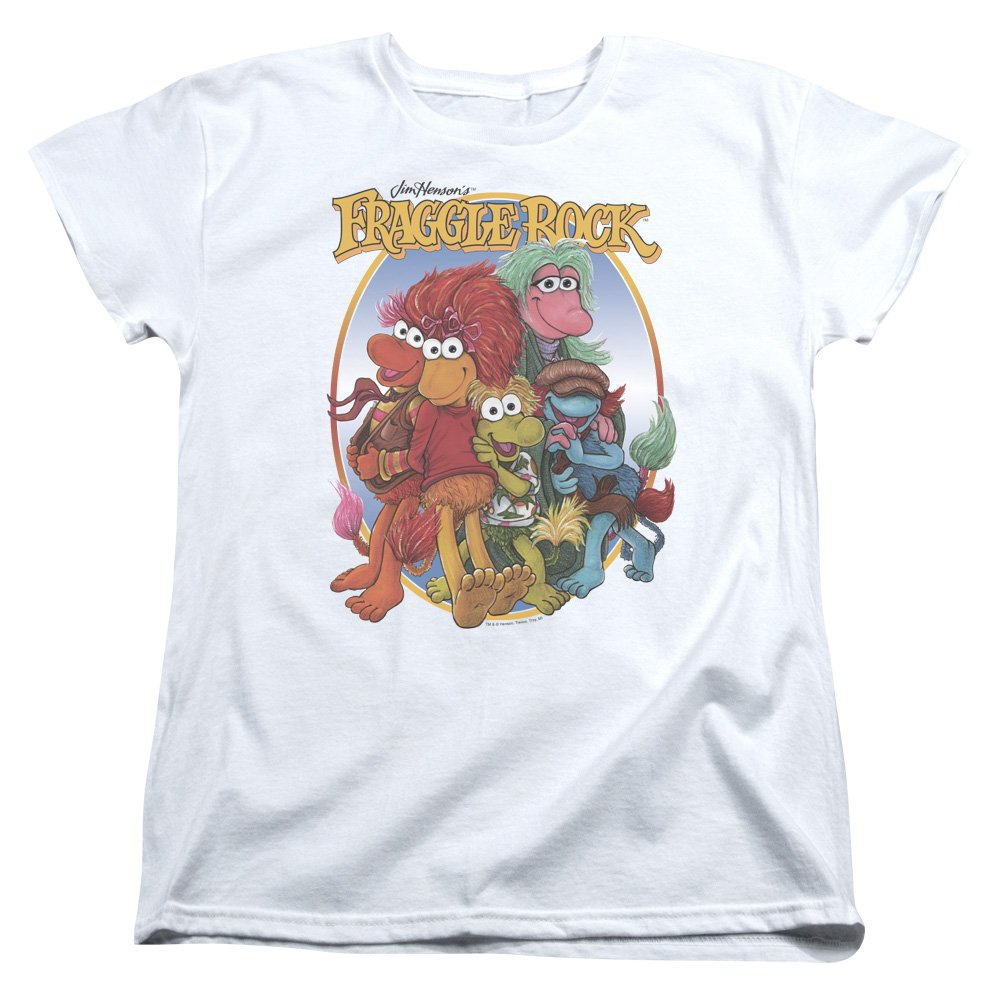 Fraggle Rock Classic TV Show Henson's Fraggles Group Hug Women's T-Shirt Tee Trevco